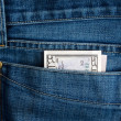 Dollar in jeans — Stock Photo #1074998