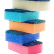 Lot of color sponge — Stock Photo