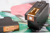 Color printer cartridge — Stock Photo