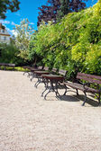 Rest area in a park in Wroclaw — Stock Photo