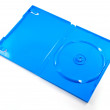 Blue box of a DVD disc isolated on white — Stock Photo