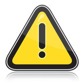 Yellow triangular other warning sign — Stock Vector