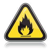 Sarı üçgen uyarı işareti — Stok Vektör