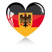 Vector heart with Germany flag — Stock Vector