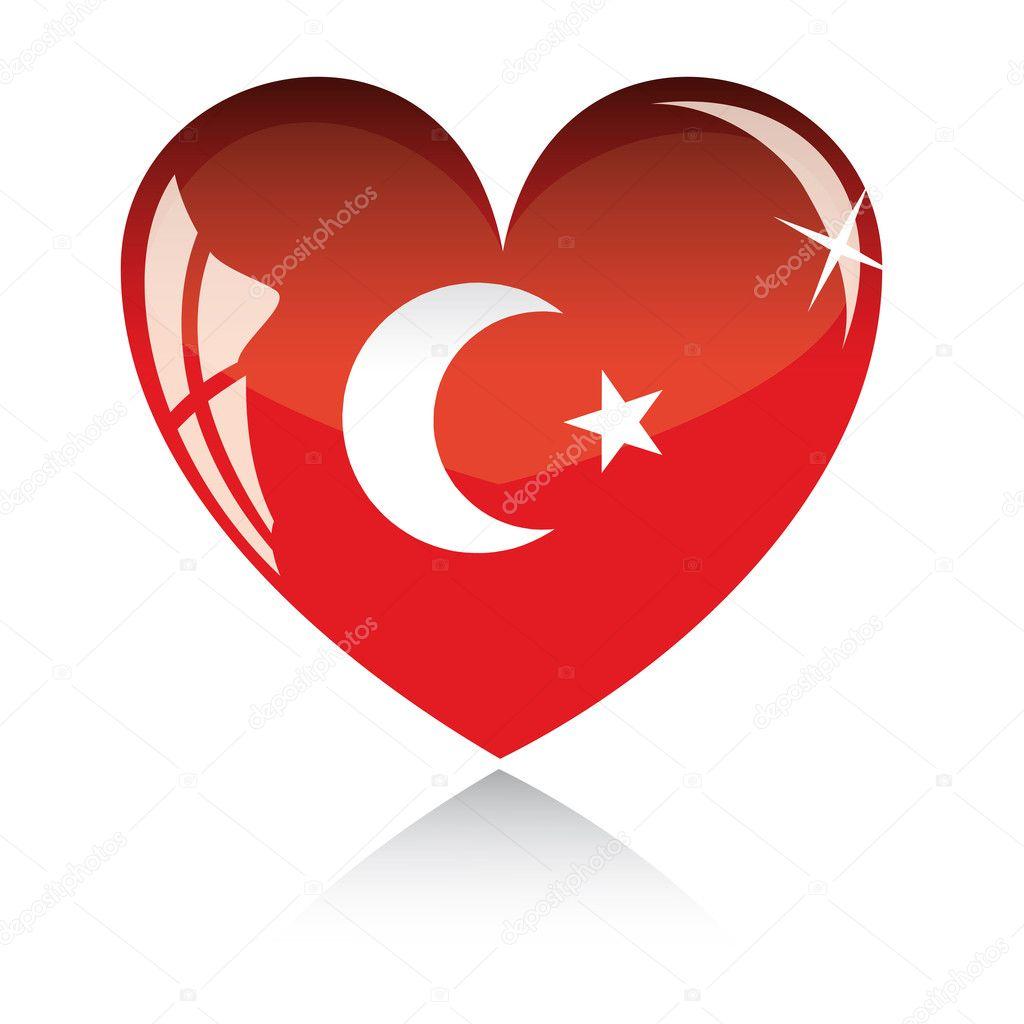 Coeur de vecteur avec le drapeau de la turquie image vectorielle 2006790 - Coeur avec des photos ...