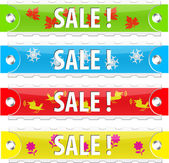 Vector glossy sale tag buttons. — Stock Vector