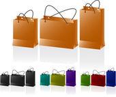 Papieren tassen set. — Stockvector