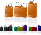 Conjunto de sacos de papel. — Vetor de Stock