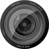 Vektor-kamera-objektiv. — Stockvektor