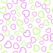 Seamless heart  pattern - Stok Vektr