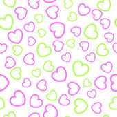 Seamless heart pattern — ストックベクタ