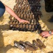 Destruction of the shells — Stockfoto