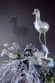 Christmas heron — Stock Photo