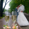 Wedding glasses - Stock Photo
