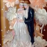 White wedding couple — Stock Photo
