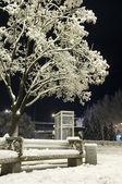 Her gece şehirde kış — Stok fotoğraf