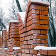 Royalty-Free Stock Photo: Brick wall in winter