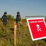 Danger mines — Stock Photo