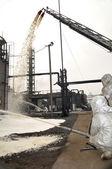 Refinery fire — Stock Photo