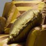 Beautiful yellow pillows — Stock Photo