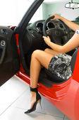 Arabada güzel kız — Stok fotoğraf