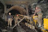 Kömür için konveyör — Stok fotoğraf