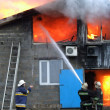 Building on fire - Stockfoto