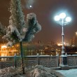 Nightly city in winter - Stock Photo