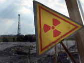 Strahlung zeichen — Stockfoto