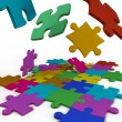 Stock Photo: Puzzles color