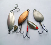 Set spoon bait for fishing — Stock Photo