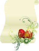 Easter egg scroll — Stock Vector