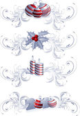 Christmas decoration icons — Stock Vector