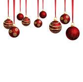 Vánoční koule rámec — Stock vektor