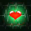 Stock Photo: Pulse heart screen