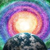 Milkyway och planet — Stockfoto