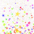 Multi-coloured stars — Stock Photo
