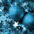 Christmas glass sphere of dark color wit — Stock Photo