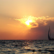 Sunset and yacht — Stock Photo #1103247