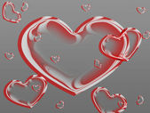 The a valentine card - hearts — Stock Photo