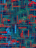 City thermogram — Stock Photo