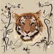 Tiger — Stockvector #1084221