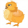 Yellow chicken — Vector de stock #1099505