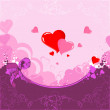 The background  the hearts — Imagen vectorial