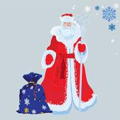 俄罗斯圣诞老人 — 图库矢量图片