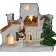 Foto de Stock  : CHRISTMAS HOUSE IN THE SNOW