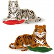 Bengal and Amur tiger — Vector de stock #1336366