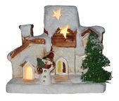 Casa de natal na neve — Foto Stock