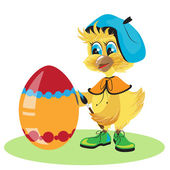 курица яйцо краситель для пасхи — Cтоковый вектор