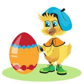 Tintura di pollo uovo di pasqua — Vettoriale Stock